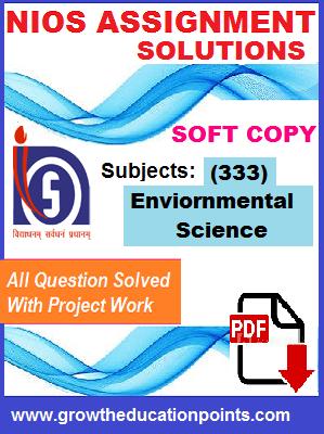 nios solved assignment EVS-333