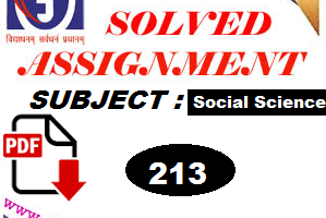 Nios social Science 213 Solved Assignment