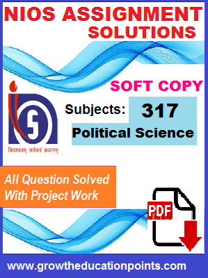 Nios Solved Assignment-Political Science (317) Hindi Medium