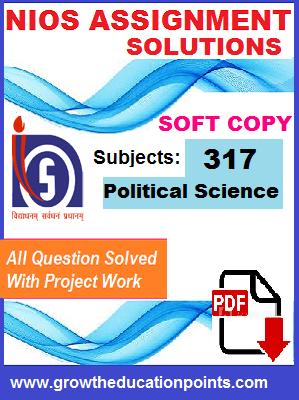 Nios Solved Assignment-Political Science (317) Hindi Medium