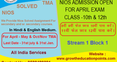 online nios admission and assignment