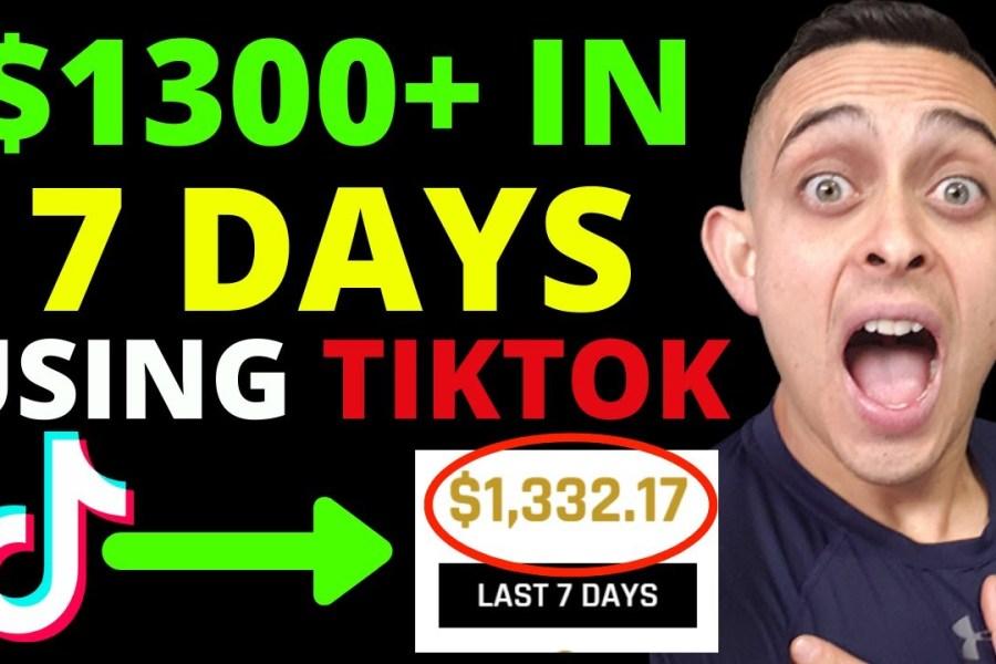 $1332 In 7 Days Using Tik Tok Marketing Strategies & HOW TO MAKE MONEY WITH TIKTOK 2020