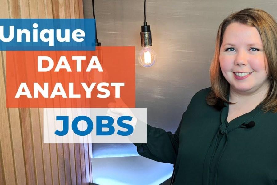 4 Unique Data Analytics Jobs