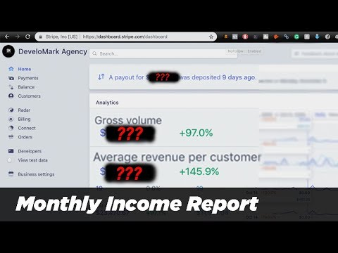 Digital Marketing Agency Monthly Income Report
