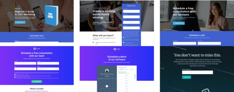 crm landing pages