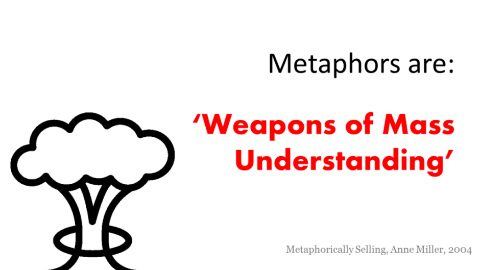 metaphors are weapons of mass understanding