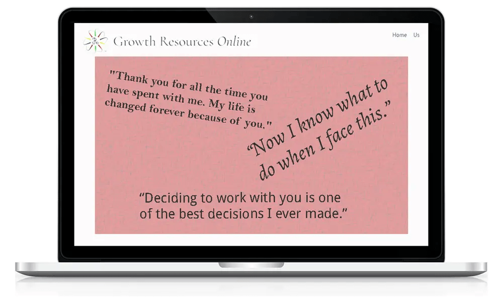 Growth Resources Online, Personal Growth, Online Courses, Testimonials 3