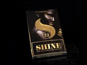 Shine 24K VIP 1/4 SIZE Gold Rolling Papers 1