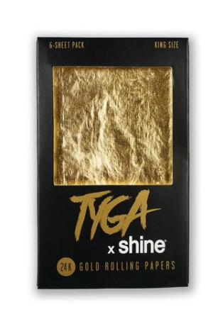Shine 24K Tyga King Size Gold Rolling Papers 6