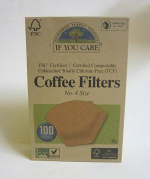 Confezione da 100 filtri carta coffee