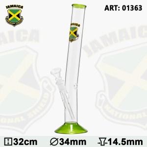 Country Hangover Glass Bong with Jamaica Logo H:32cm