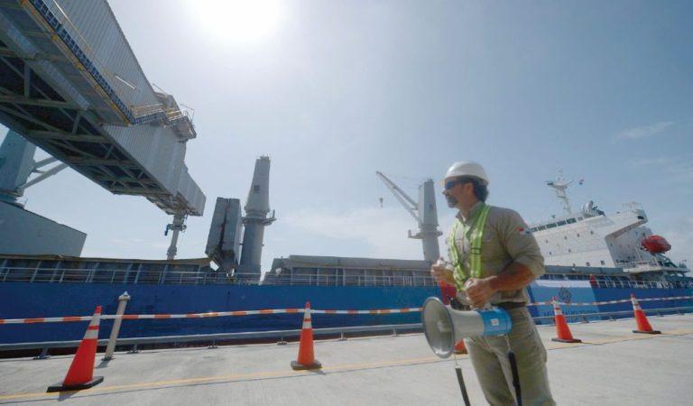 Trabajadores Donoso -El proyecto Cobre Panamá avanza a pesar del impacto de la pandemia- Grúas SHL