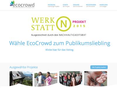 Spende 20 Sekunden Zeit und helfe mit Deinem Klick EcoCrowd