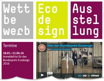 Mehr als schön – Bewerbe Dich um den Bundespreis Ecodesign 2016!