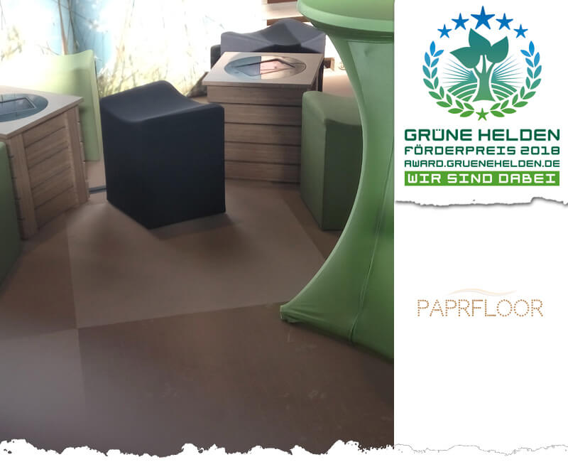 paprfloor ist ein nachhaltiger Papierfußboden nicht nur für Messen
