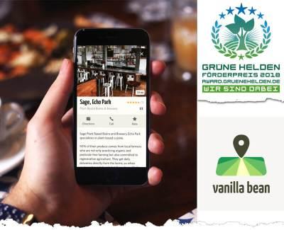 vanilla bean App – der erster Restaurantführer für dein veganes Leben