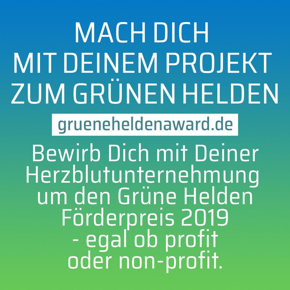 Grüne Helden 2019 gesucht – Jetzt online bewerben!