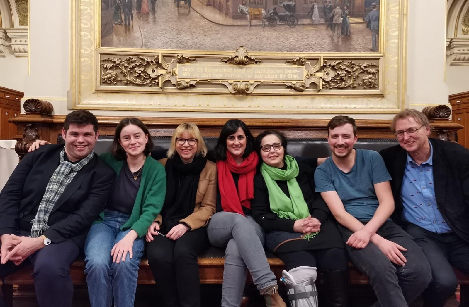 Sieben Grüne Wandsbeker in der Bürgerschaft