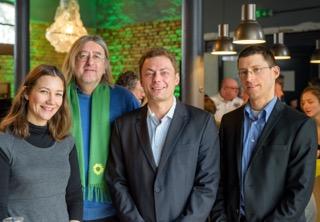 v.l.n.r. Anne Spiegel, Bernhard Braun, Daniel Köbler, Eric Tschöp