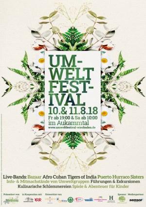Plakat Umweltfestival Wiesbaden 2018