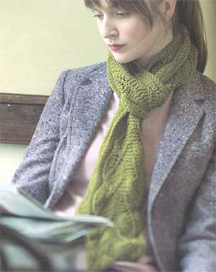 Backyard Leaves scarf