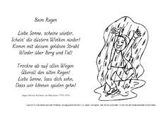 Regen Gedichte Wanderfreunde Hainsacker