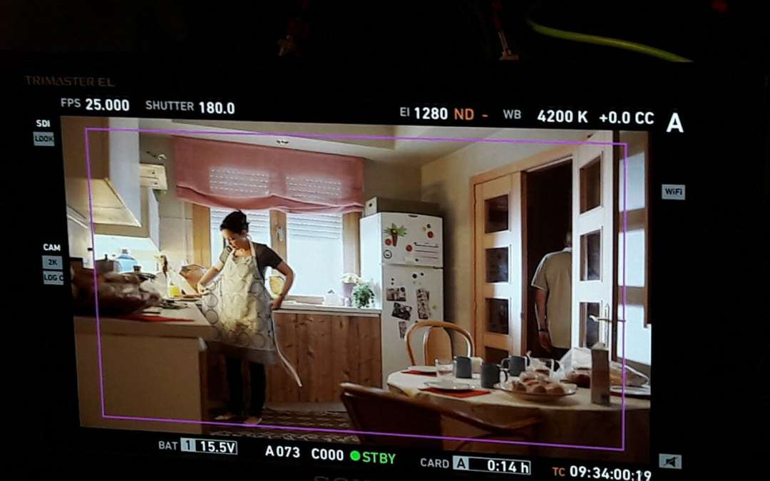 vista de cámara en la cocina de Laura en estoy vivo