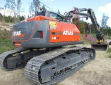 ATLAS 160 LC Peso de 18000 Kg Potencia 109 CV Profundidad de excavación 7,02 m