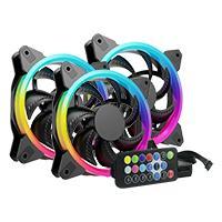 KIT 3 VENTILADORES OCELOT / PARA GABINETES/ GAMER/ 120MM/ RGB/ HUB PARA CONECTAR HASTA 10 VENTILADORES RGB/CONTROL REMOTO PARA AJUSTE DE COLORES, VELOCIDAD Y PATRON DE ILUMINACION