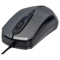 MOUSE OPTICO USB MANHATTAN.TRES BOTONES CON RUEDA DE DESPLAZAMIENTO MODELO EDGE .1000 DPI COLOR GRIS