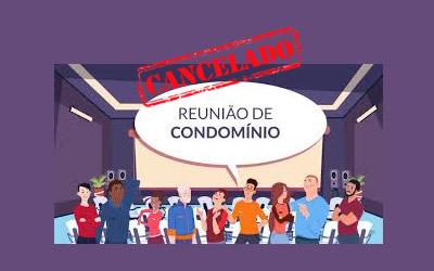 como cancelar reunião de condomínio