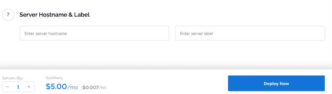 Nombramos el servidor y lo etiquetamos.