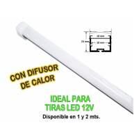 Perfil alumini 25×7,5×7 Tira Led