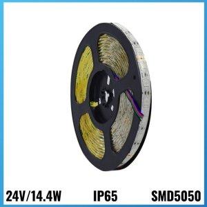 Tira Led 24V 14.4W 5 metres IP65 3000k