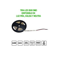 Tira Led 24V 24W 5 metres IP65