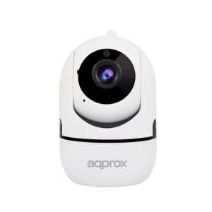 Approx Camara de Videovigilancia WiFi HD 1080P - Rotacion 355º Inclinacion 90º - 2 Canales Audio - Vision Nocturna