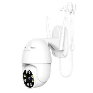 Approx Camara de Videovigilancia WiFi HD 1080P - Rotacion 355º Inclinacion 90º - Exterior e Interior - 2 Canales Audio - Vision Nocturna - Funciones de Alarma - Color Blanco