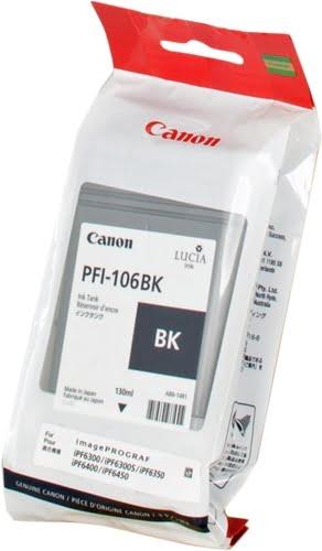 Canon PFI106 Negro Cartucho de Tinta Original - PFI106BK/6621B001