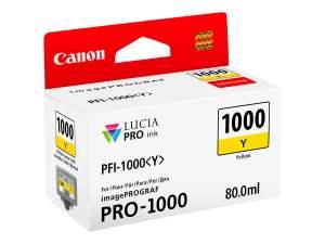 Canon PFI1000 Amarillo Cartucho de Tinta Original - PFI1000Y/0549C001