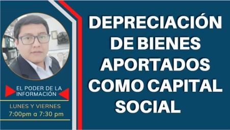 Depreciación de los bienes aportados como capital social 2021