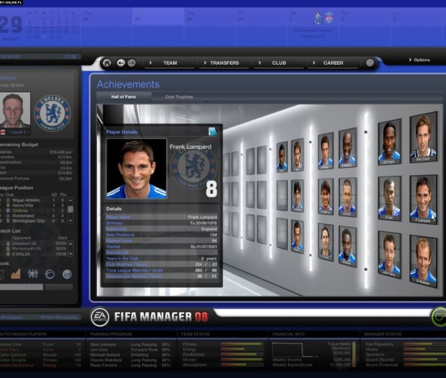Fifa Manager 08 Pc Games Image 24 50 Bright Future Electronic Arts Inc
