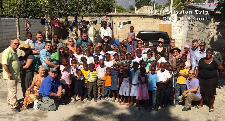 Good Shepherd Mission Team meets the children from Mama Denise's Orphanage