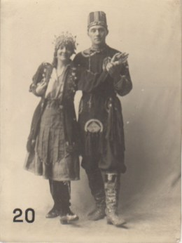 Dorothy Carleton Smyth and Alec Milne in fancy dress (Archive Reference: GSAA/P/1136)