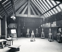 GSA Archives photograph of Studio 11 in the basement of the Mackintosh Building (Archive reference: GSAA/P/7/111)
