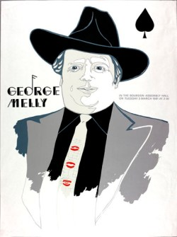 George Melly poster for Activities Week, designed by Robert Stewart 1980 (Archive reference: GSAA/EPH/10/138)