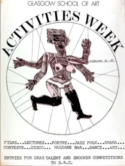 Activities Week poster, designed by Jimmy Cosgrove, circa 1980 (Archive reference: GSAA/EPH/10/170)