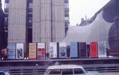 Activities Week posters outside the Newbery Tower, Renfrew Street, 1975