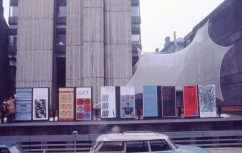 Activities Week posters outside the Newbery Tower, Renfrew Street, 1975