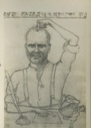 Wartime postcard sketches by William Hunter (Archive reference: NMC/1039)