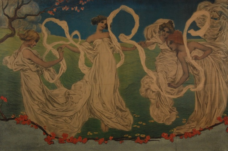 Decorative Art Poster by Leonardo Bistolfi exhibited at Turin in 1902, The Glasgow School of Art Archives and Collections (Archive reference: NMC/980)